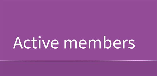 Active members mobile header